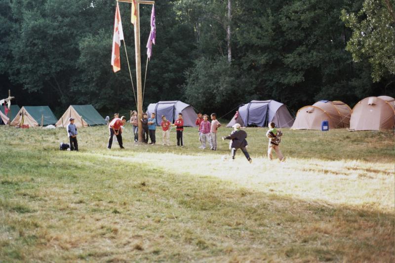 Jugando en el campamento 2011