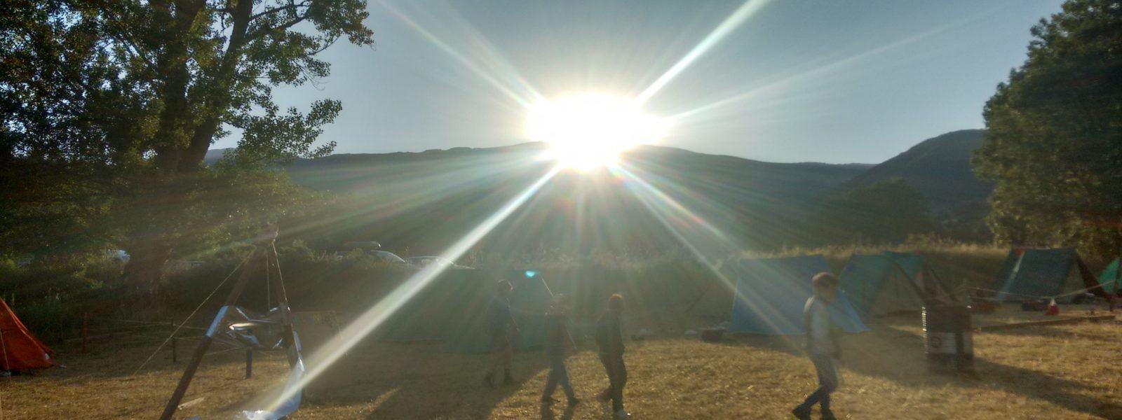 Amanece en el campamento 2016